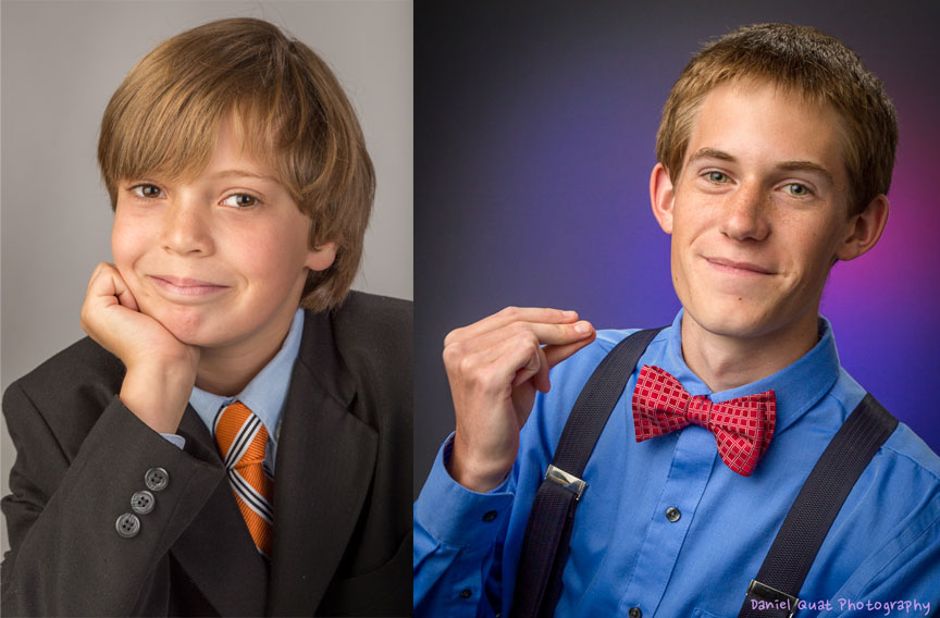 Two Senior Portraits...I know they look pretty young...but hey, that's what 17 looks like these days.