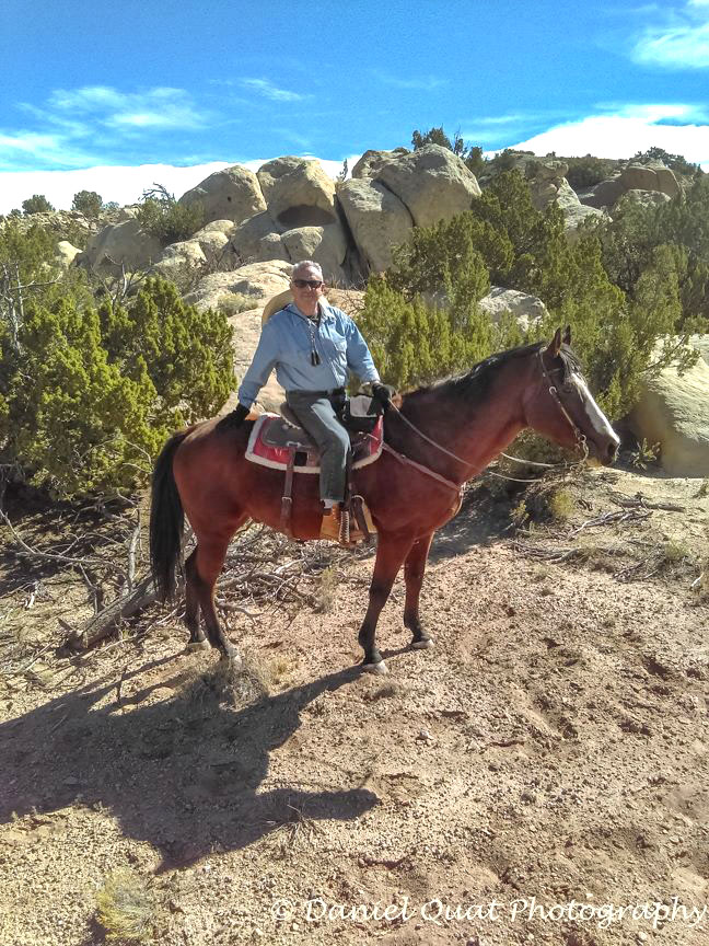 During ride with Johnny Black (who took the photo) while I'm on Remi...Great 2 hour desert ride--my first!