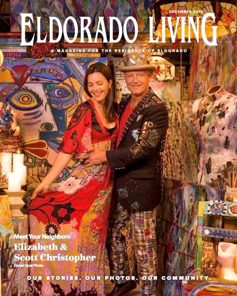 Scott and Elizabeth Christopher in their Eldorado Studios: cover story for Eldorado Living