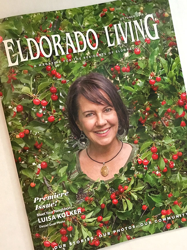 Luisa Kolker featured cover story for the inaugural issue of Eldorado living