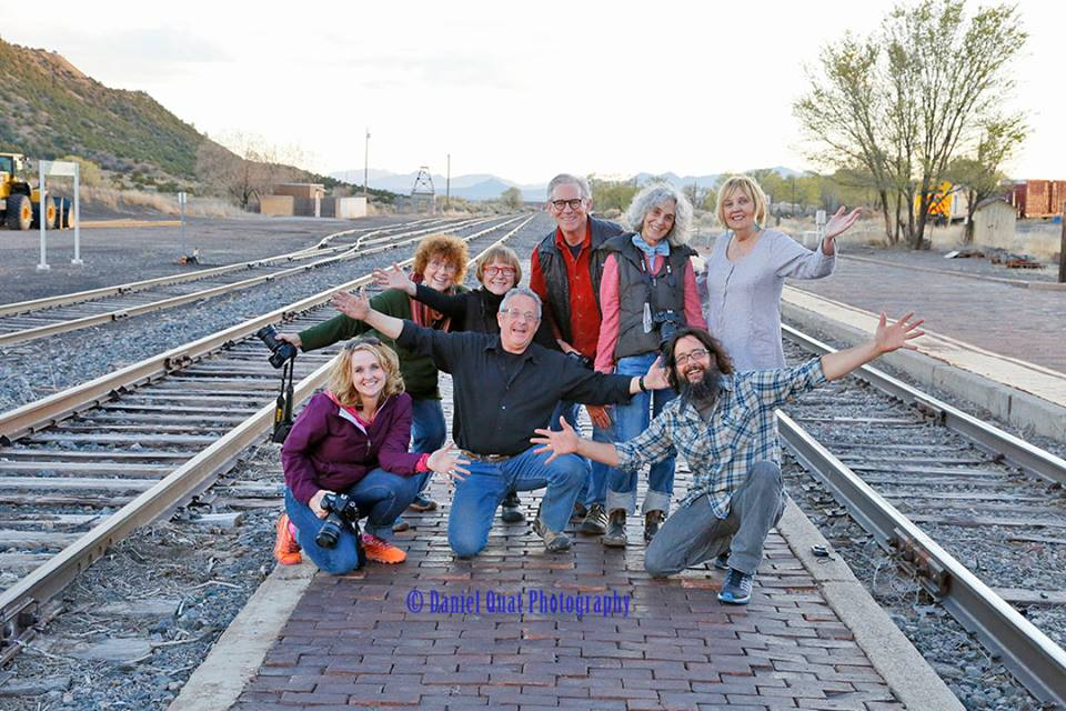 My Capturing Essence Class on our outing at the Lamy Railroad Station