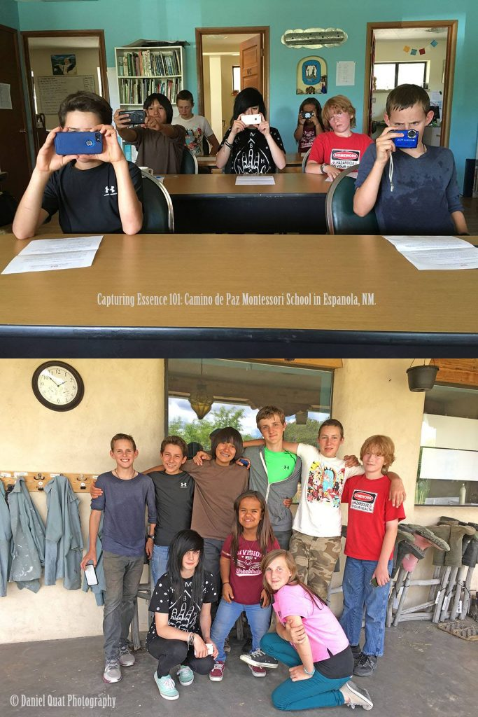 Capturing Essence on our Iphones: Camino de Paz, Farm School students, Espanola, NM.