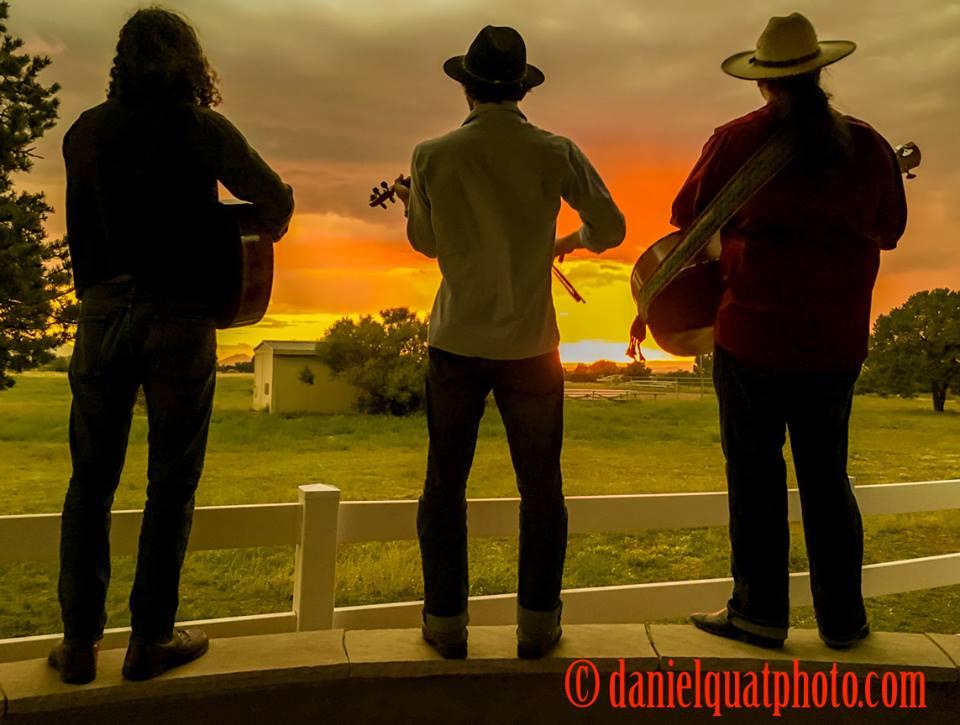 Serenading the sunset at the Eldorado Living Launch Party, Santa Fe, NM.