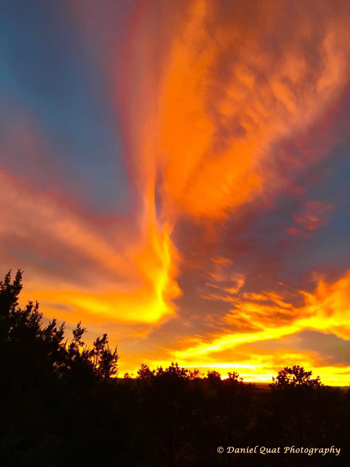 Typical amazing sunset in Santa Fe...Iphone capture